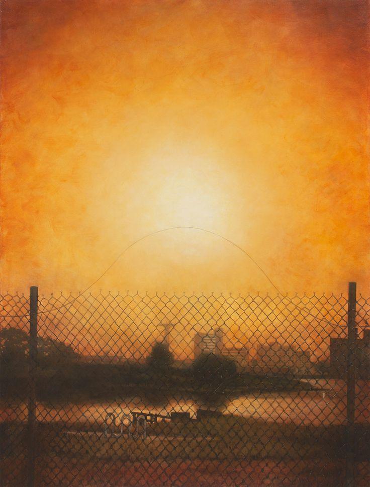 "Coney Island from Calvert Vaux Park 2014 acrylic on canvas 86"" x 65"""