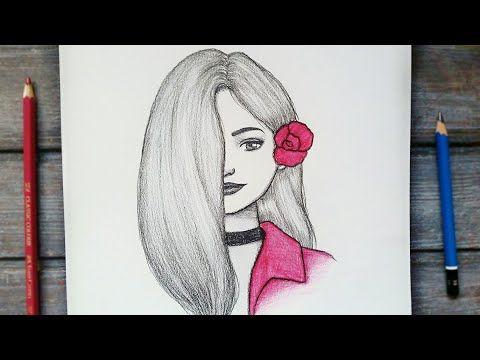 رسم سهل تعليم رسم بنت مع شعر طويل سهل خطوه بخطوه للمبتدئين بطريقة سهلة رسم بنات Youtube Cool Drawings Butterfly Drawing Drawings