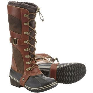 Perfect winter boot! It's waterproof & keeps my  my feet warm. Good grip helps on ice & snow. Conquest Carly Boots (Women's) #Sorel at RockCreek.com
