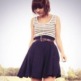 Tuto Patron gratuit Jupe cercle à pan 50's , Free Tutorial Navy Circle skirts