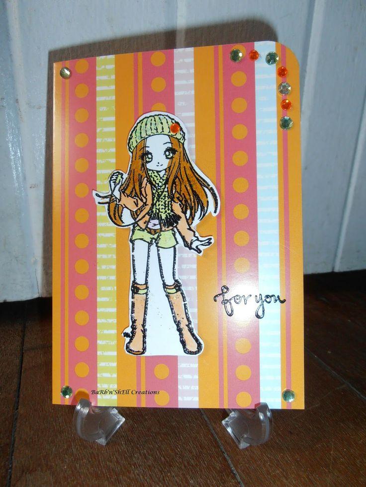 BaRb'n'ShEllcreations - Make It Crafty - Felicity Birthday Card - made by Shell
