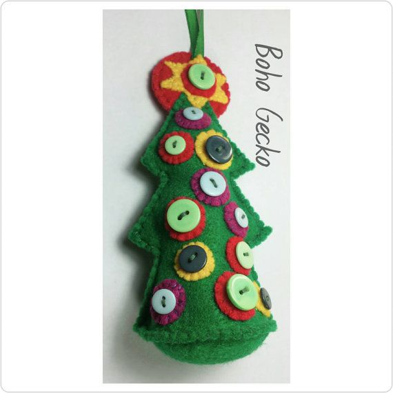 Check out this item in my Etsy shop https://www.etsy.com/uk/listing/253390582/felt-christmas-tree-ornament-twig-tree
