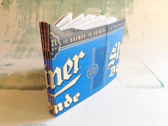 Unique handmade journal longstitch upcycled beer by mosoart 10