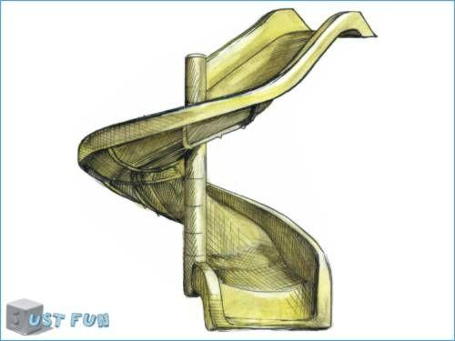 JUST FUN zjeżdżalnia, ślizg spiralny 790009 - zdjęcie 1