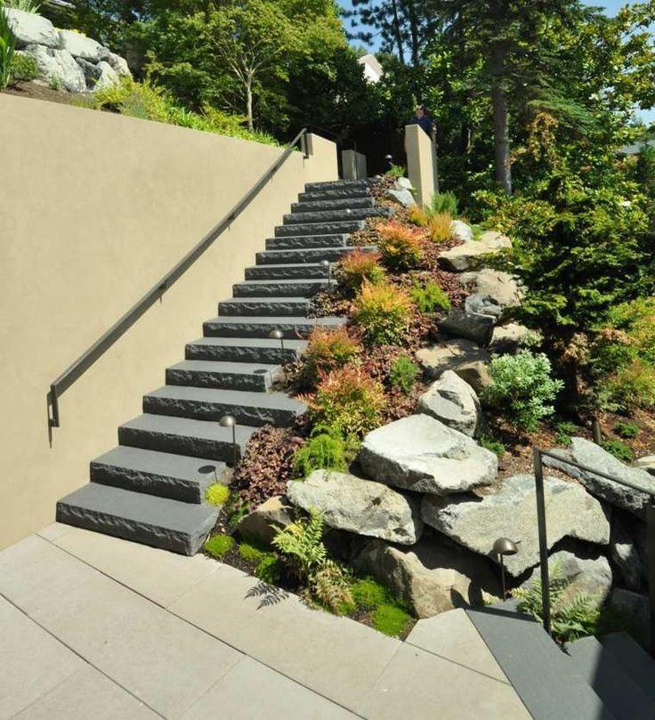 Jardin de rocaille avec design intéressant