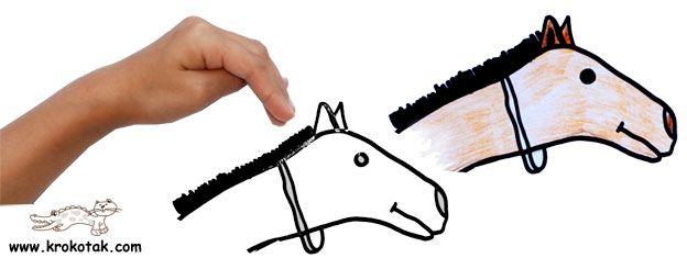 paard tekenen met kleuters