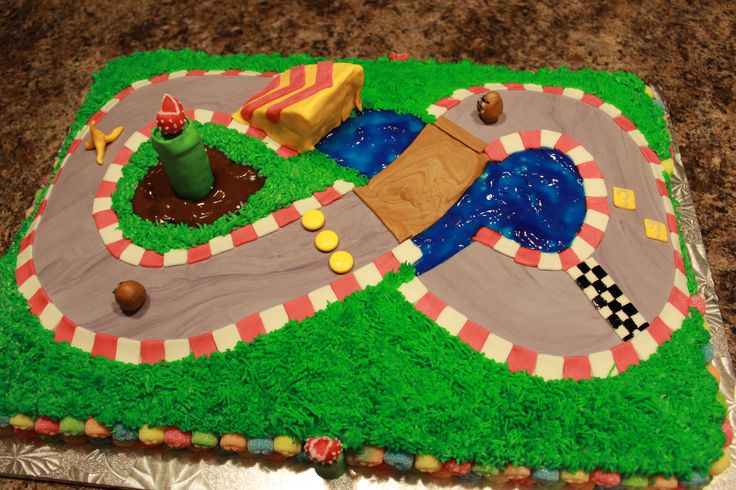 Super Mario Cart 8th Birthday Cake