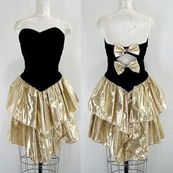 """Vintage 80s metallic dress by Goldmine Trash - perfectly acceptable to wear """"out"""""""