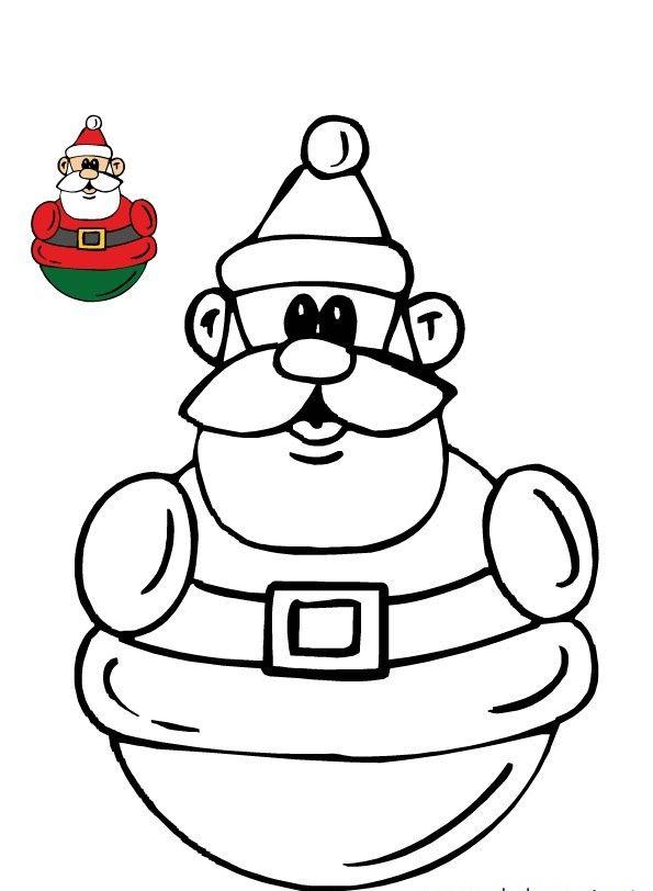 Yeni Yıl Etkinlikleri Için Noel Baba Boyama Sayfaları Yılbaşı