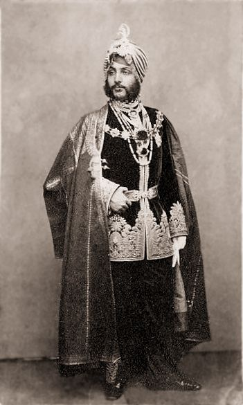 After his exile to Britain at age 13 following the British annexation of the Punjab, he was befriended by Queen Victoria. In June 1850, Lord Dalhousie presented the Kohinoor Diamond by Dalip Singh after it was confiscated by the British. From that date on, the diamond became part of the Crown Jewels,[4] set in the Crown of Queen Elizabeth and on display in the Jewel House in the Tower of London.[5