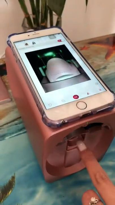 Amazing Mobile Nail Printer Machine !