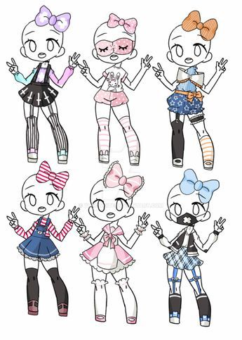 Outfit Adopt Set[Closed] by yuki-white in 2019 | Drawing ...