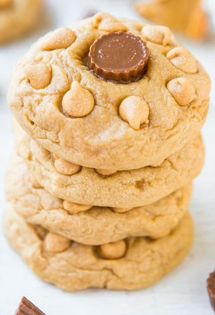The BEST, softest, chewiest peanut butter cookies I've ever had! No lie.