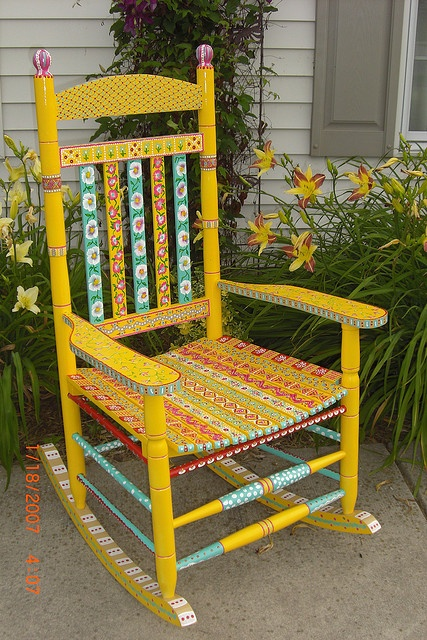Hand-painted Porch Rocker by KaboodleKool, via Flickr