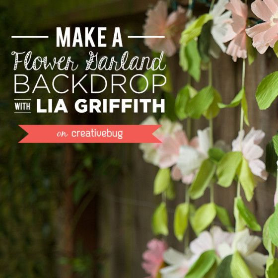 Make a Crepe Paper Flower Garland Backdrop