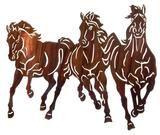 3 Horse Thunderstorm Metal Wall Art