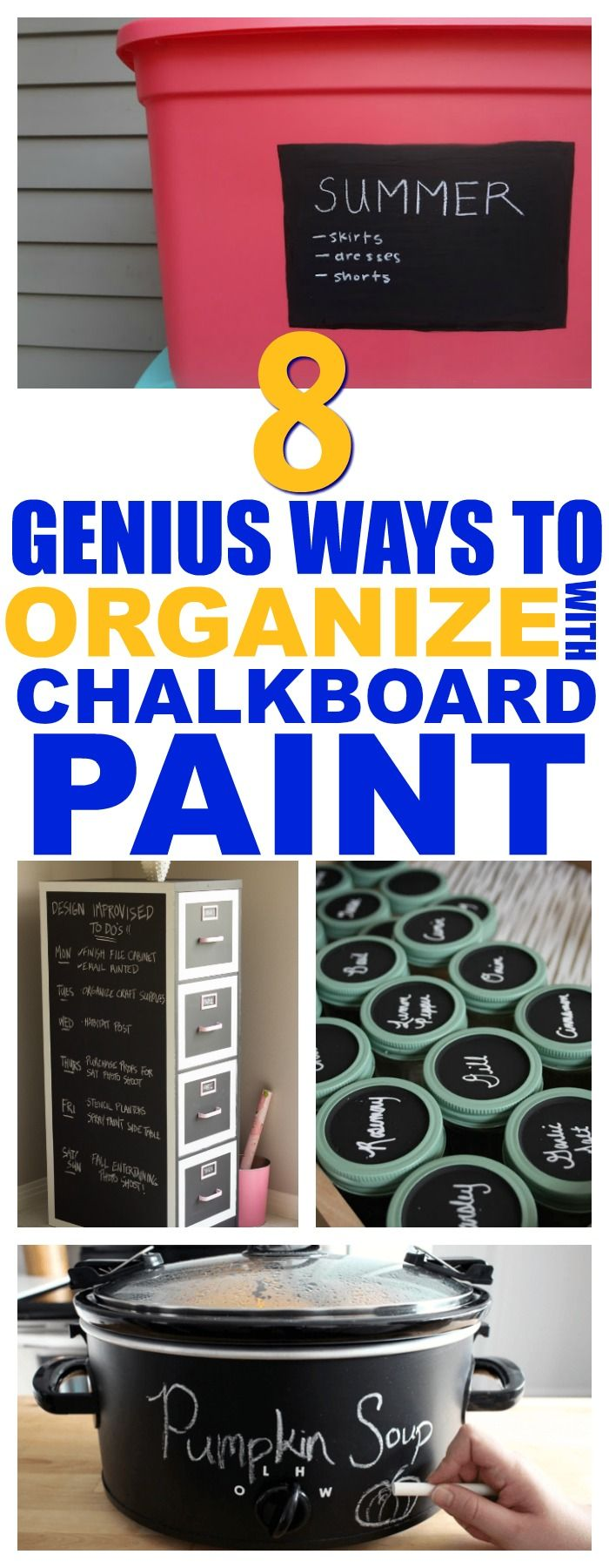 8 Chalkboard Paint Projects That Will Instantly Organize Your Home - That Vintage Life