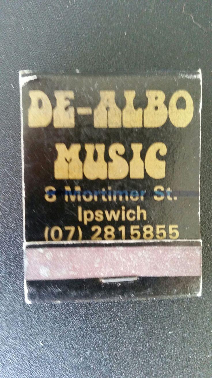 De-Albo Music. Ipswich. Matchbook