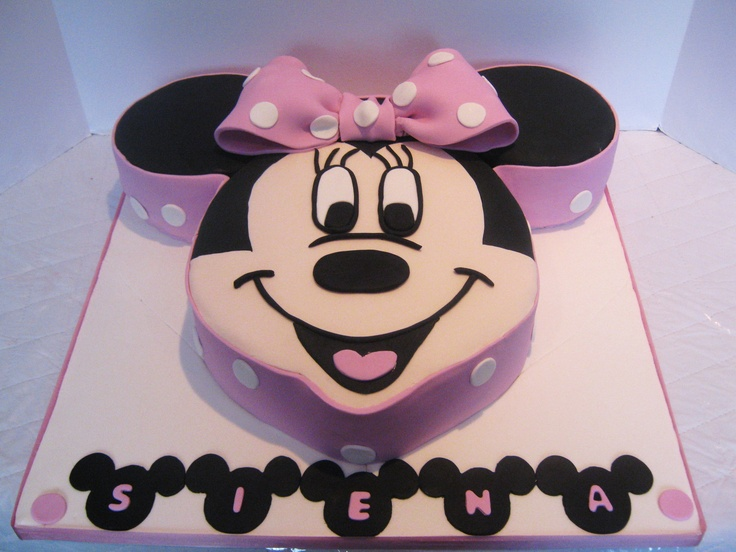 Minnie mouse face cake, pink, bow, ears, montreal, quebec