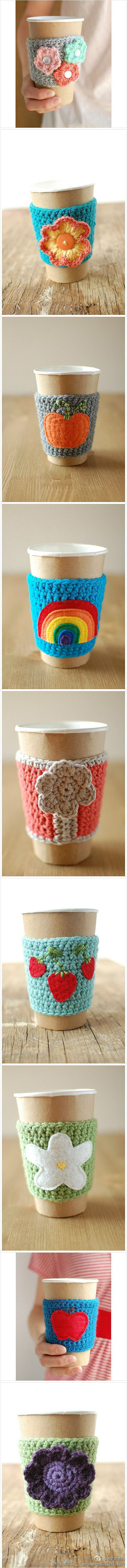 Crochet cup cozy                                                                                                                                                                                 More