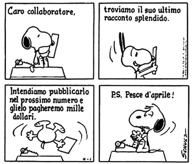 Le lezioni di Scrittura di Snoopy » Lettere di rifiuto / Scherzi... #scrittura #snoopy