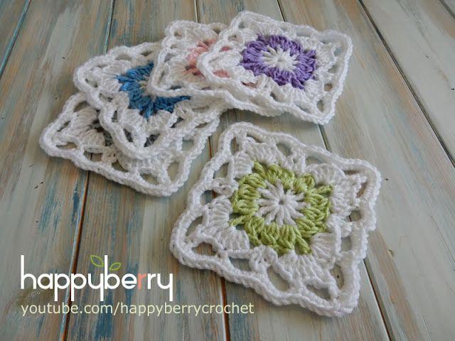How to Crochet my Vintage Granny Square   Happy Berry Crochet   Bloglovin'