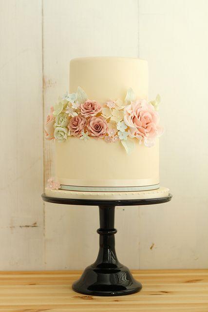 Romantic Vintage Wedding Cake by Fair Cake, via Flickr