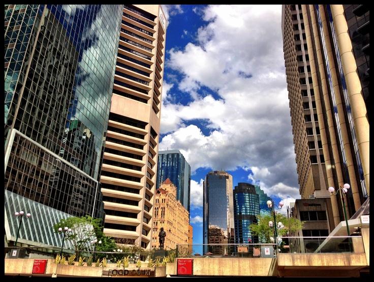 Brisbane city with beautiful blue sky