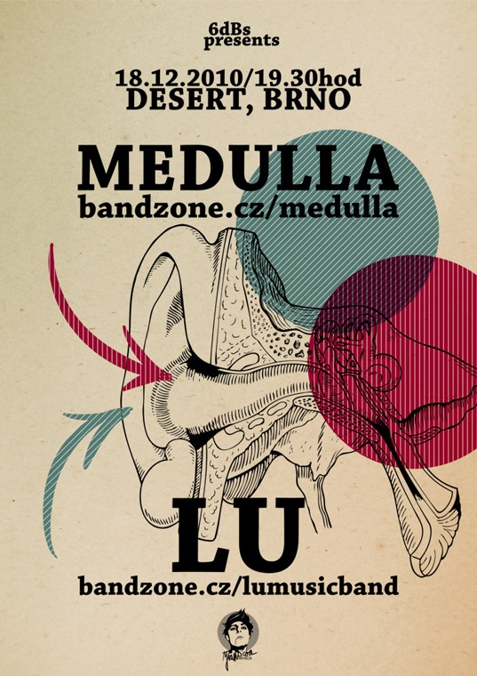 "6dBs poster ""MEDULLA"" by yVANs"