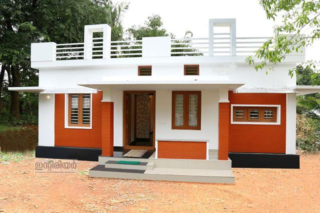 2 Bedroom Contemporary Kerala House Plan In 750 Sqft For 12 Lakhs