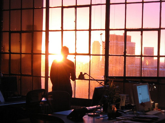 sunset at work.Dreams Studios, Friends, Offices Windows, View Sunsets, Work Sunsets, Shoji, Flickr Blog, Lights Study, Photography