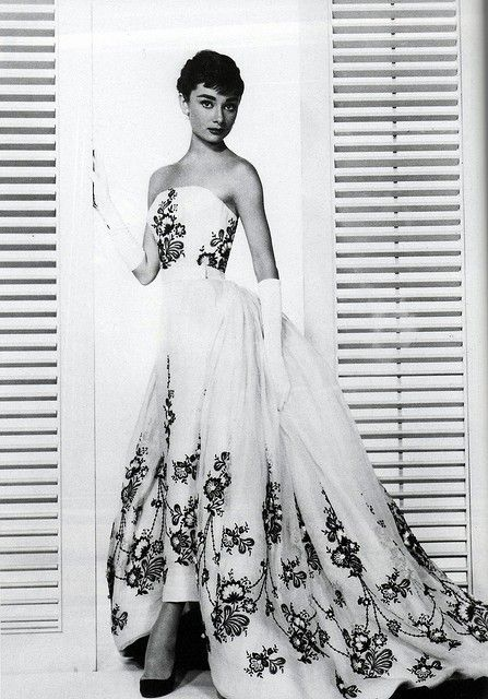 Givenchy gown. Audrey is timeless.
