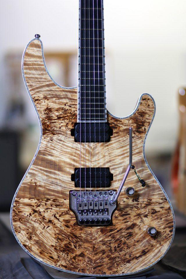 gorgeous figured top wood custom guitars pinterest electric guitars electric and lima. Black Bedroom Furniture Sets. Home Design Ideas