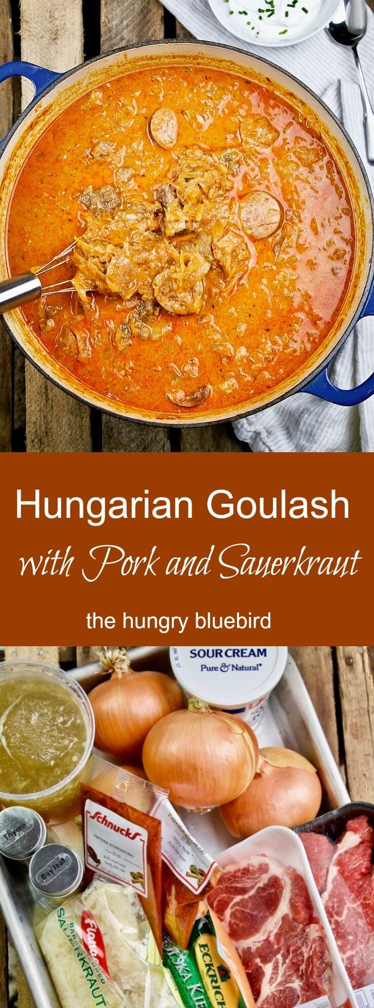 Hungarian Goulash with Pork and Sauerkraut
