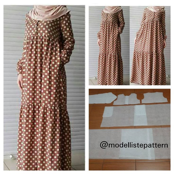 """25 mentions J'aime, 1 commentaires - Jasa Pembuatan Pola Pakaian (@modellistepattern) sur Instagram : """"Gamis pattern with combination skirt Order by line : @modelliste (with @)…"""""""