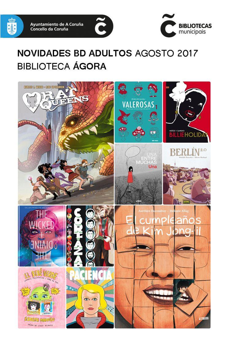 Últimas incorporacións de cómic á sala de adultos da Biblioteca Municipal Ágora. Dispoñibles para levar en préstamo dende xa!