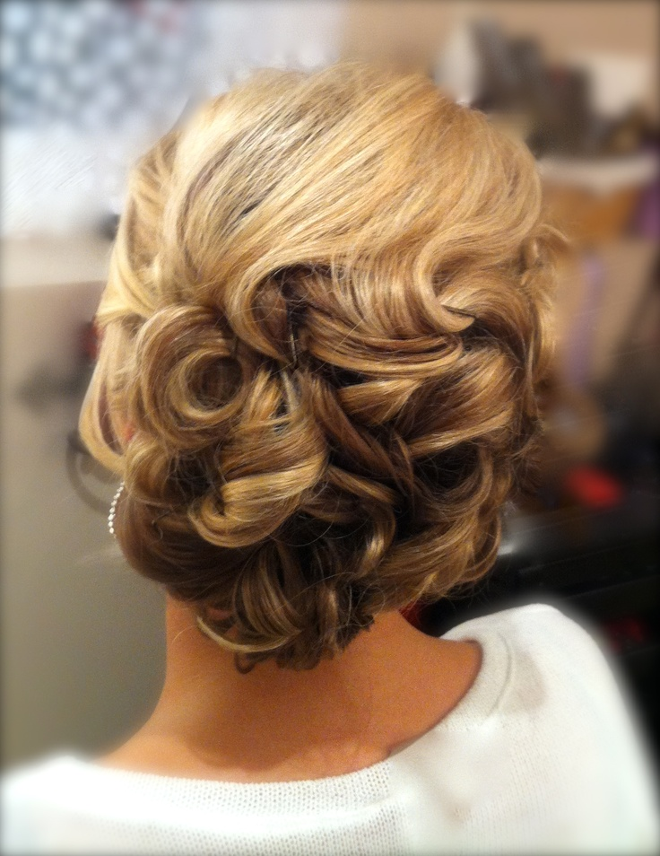 Modern Wavy Updo Bridal And Special Occasion Hair