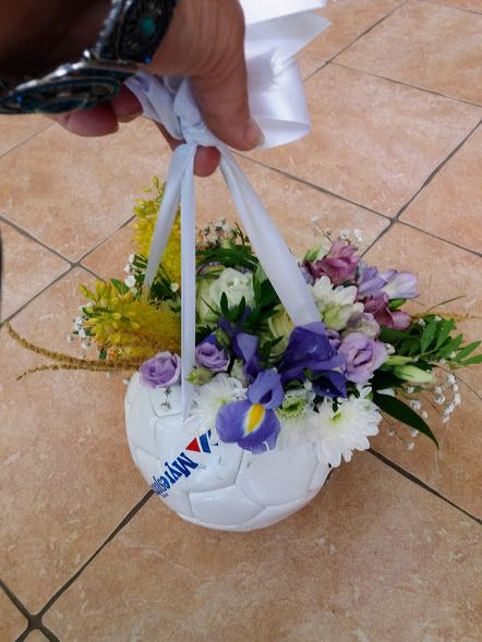 Labda csokor ballagásra - Ball bouquet for graduation