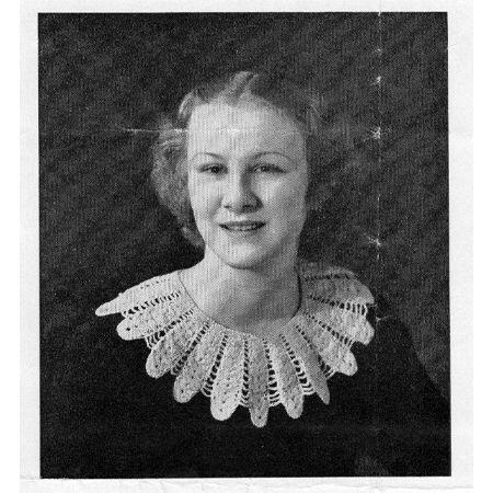 Vintage Sun Ray Crochet Collar Pattern