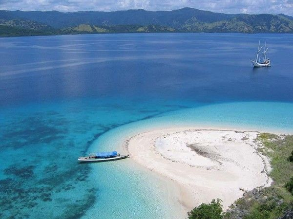 Lombok Island-Indonesia. Beautiful beach and the water is clear. God's world is beautiful and amazing.