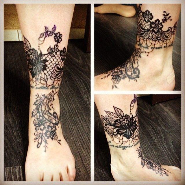 Lace tattoo | Based on my sketch. 3 Rl, 7RS. May 2014. | Katya Slonenko | Flickr