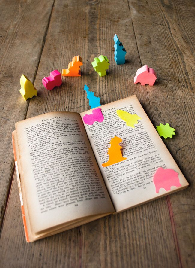 silly sticky note book markers