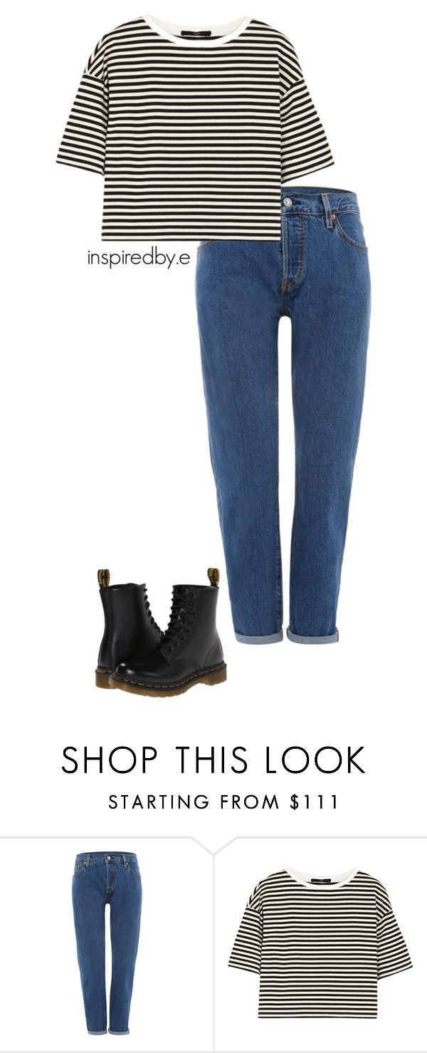 """Boredom"" by emmakiis on Polyvore featuring Levi's, TIBI and Dr. Martens"
