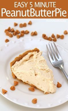 EASY peanut butter pie. Great for a last minute party or dessert. And seriously delicious!!!