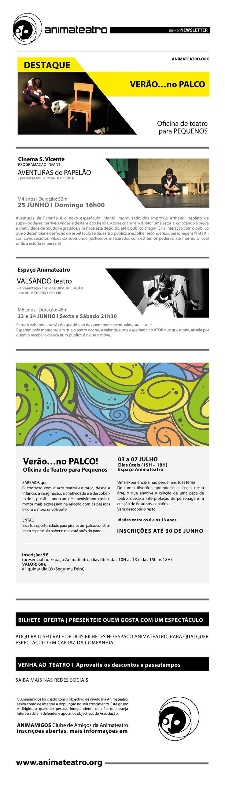 JUNHO | verão... no palco! AVENTURAS de PAPELÃO | valsando teatro