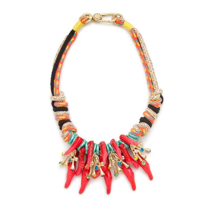 Colares no Pinterest | Colar de tecido, Colar de corda e Maxi colares