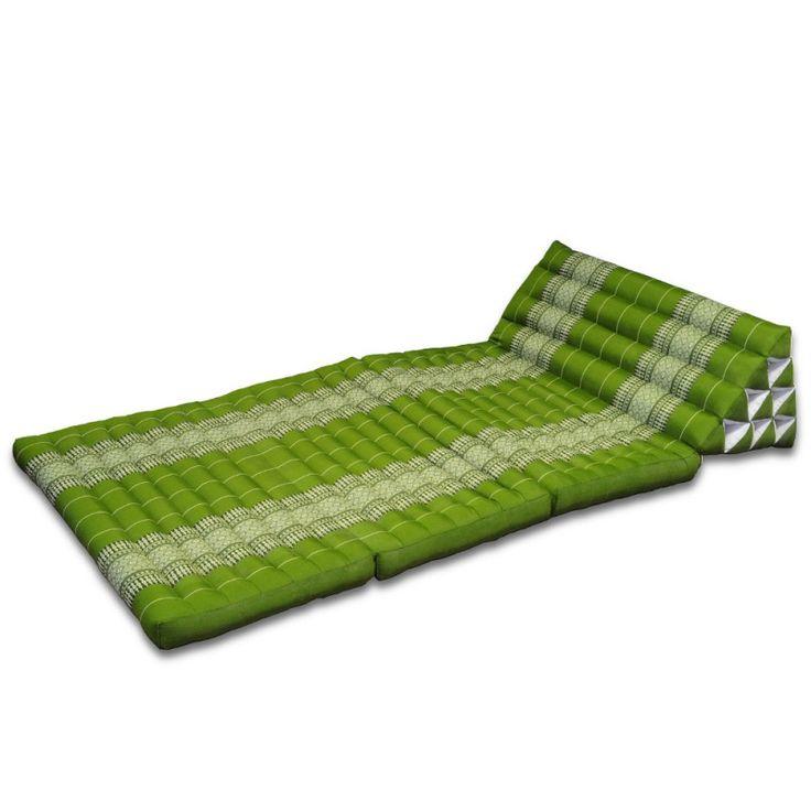 kissen thai dreieckskissen bl ten gr n 3 matten what. Black Bedroom Furniture Sets. Home Design Ideas
