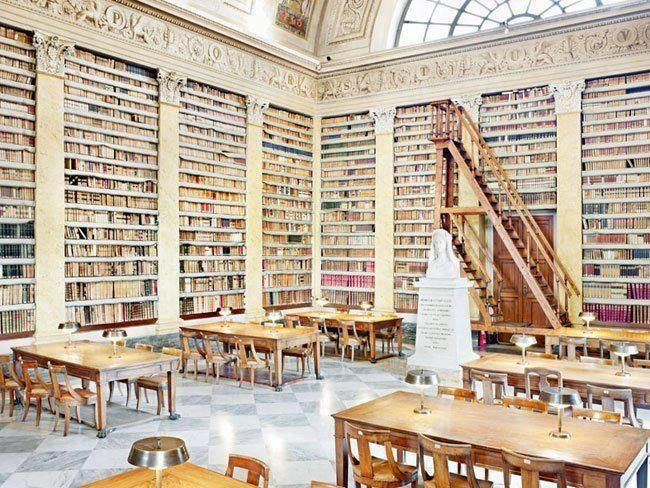 The Palatine Library in Parma, Italy was founded in 1761 and their collection includes over 700 million books.
