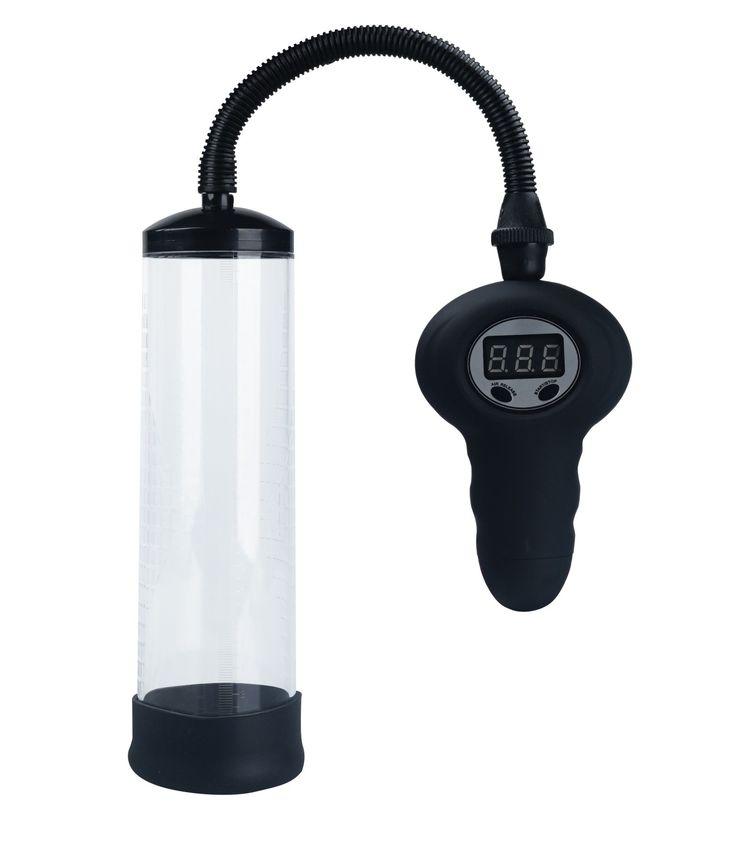 Luta dig tillbaka och se den växa...     Elektrisk Pump Digital Display, med Tryckmätare Måttskala Öppning i Kroppsäkert Silikon