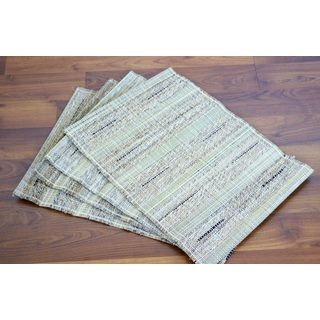 Leaf & Fiber Handwoven Natural Placemats (India) (Set of 4) | Overstock.com Shopping - The Best Deals on Placemats/Napkins